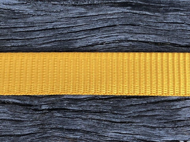Polyester webbing - Gold 20mm