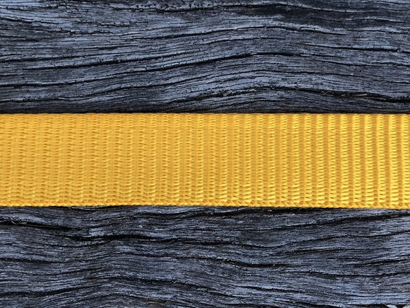 Polyester webbing - Gold 25mm
