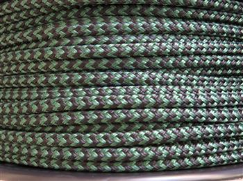 Green-Black zig zag  - 6mm