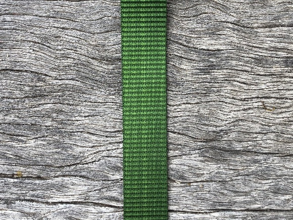 Polyester webbing - Green 25mm