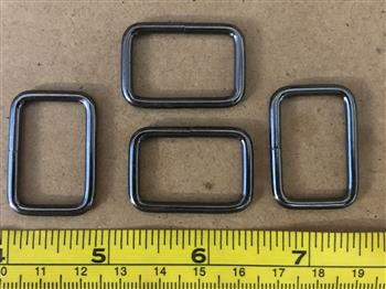 Rectangle Rings - 25mm Gun Metal