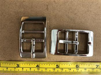 Double bar buckle - Silver 25mm