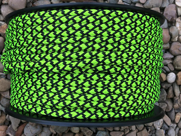 Lime-Black Lattice  - 12mm