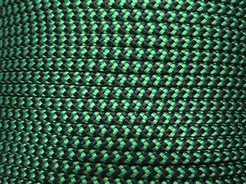 Marine Rope - Green-Black zig zag - 6mm
