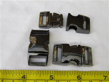 Metal Buckle - Black 15mm (5/8 inch)
