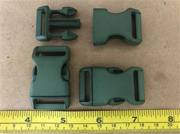Military Green Buckles - 20mm