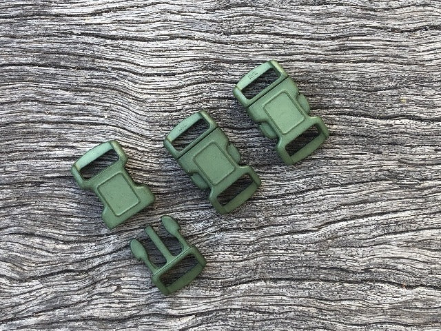 Military Green Buckles - 10mm (3/8 inch)