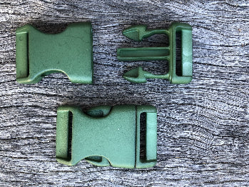 Military Green - 25mm Curved side release buckle