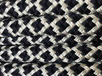 Navy-White Lattice  - 12mm