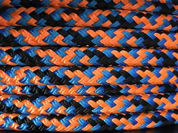 Black-Blue-Orange Appaloosa Horse Halter - 8mm