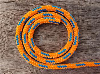 Orange-Blue USA Horse Halter - 8mm