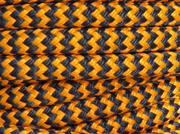 Orange-Navy Zig Zag  - 12mm