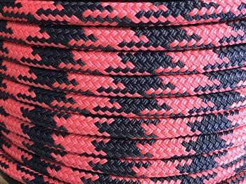 Pink-Navy Tobiano Horse Lead Rope - 14mm