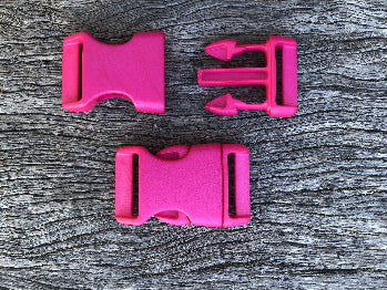 Pink - 25mm Curved side release buckle