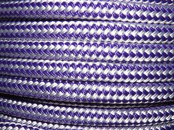 Purple & White Stripe  - 12mm