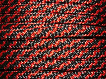 Black & Red Spiral Lead Rope - 12mm