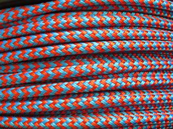 Blue & Red zig zag Horse Halter - 6mm