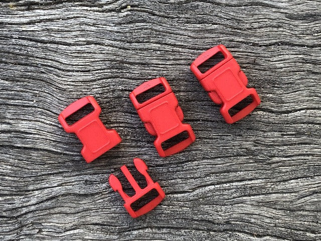 Red Buckles - 10mm (3/8 inch)