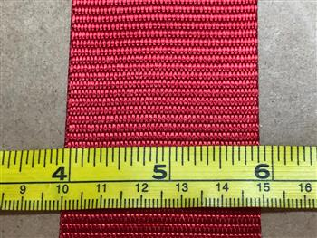 Polyester webbing - Red 50mm