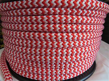 Red & White Zig Zag  - 12mm
