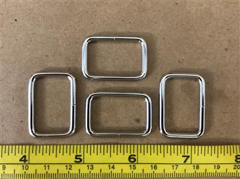 Rectangle Rings - 25mm Silver