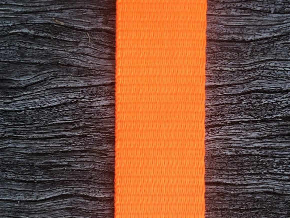 Polyester webbing - Fluoro Orange 25mm