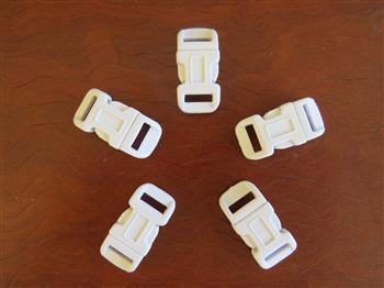 White buckles - 12mm (1/2 inch)