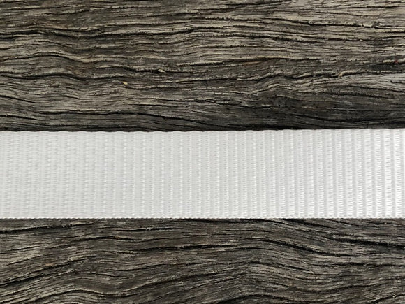 Polyester webbing - White 25mm