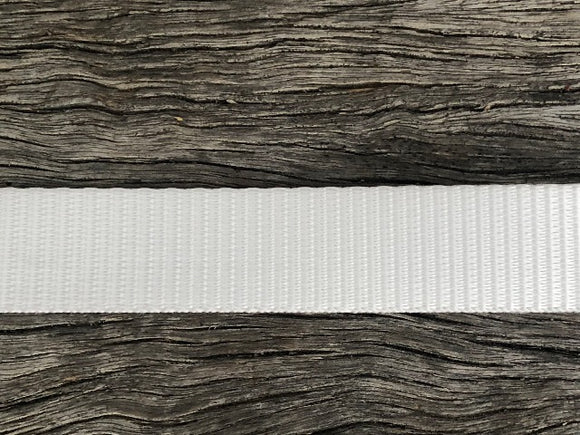 Polyester webbing - White 15mm