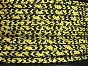 Black-Yellow Tiger halter - 6mm