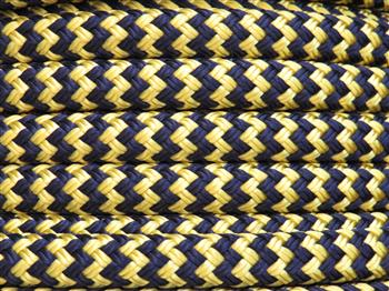 Yellow-Navy zig zag  - 6mm