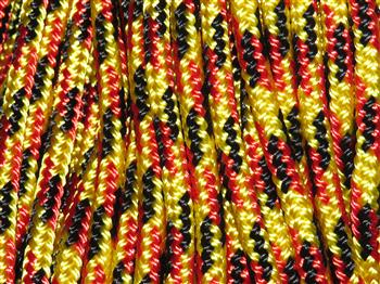 Yellow-Black-Red Rope - 10mm