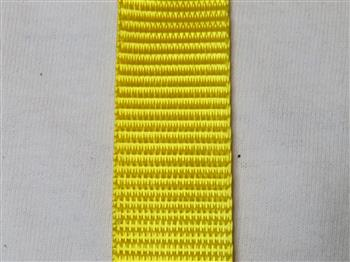 Polyester webbing - Yellow 25mm