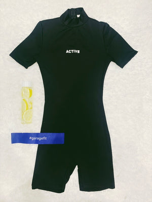 Black Active Jumpsuit set