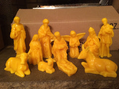 Nativity Scene Bees Wax Figures