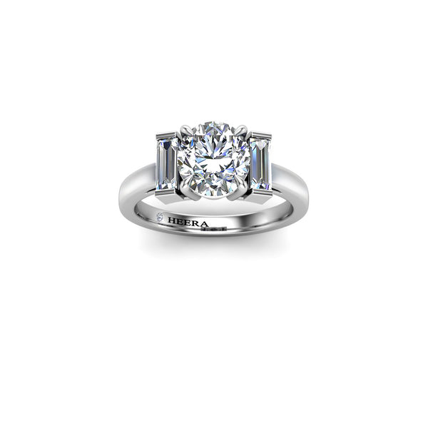Platinum Cushion Cut Diamond split shoulder Double Halo Ring 4 claw Setting Only - HEERA DIAMONDS