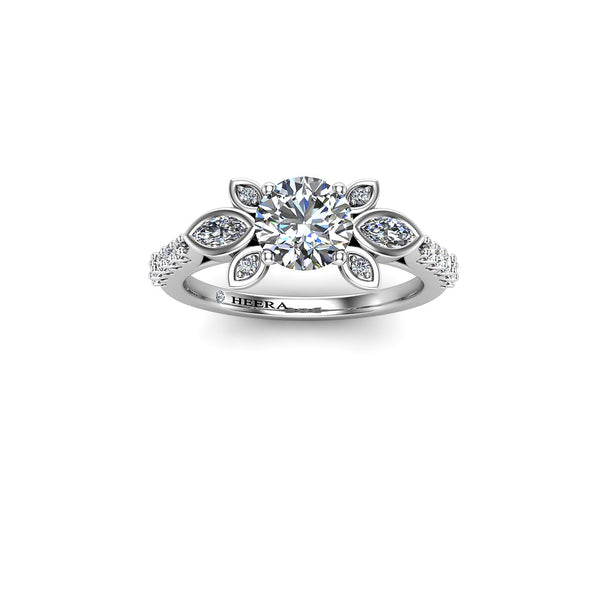 The Diamond Rose Engagement Ring - HEERA DIAMONDS
