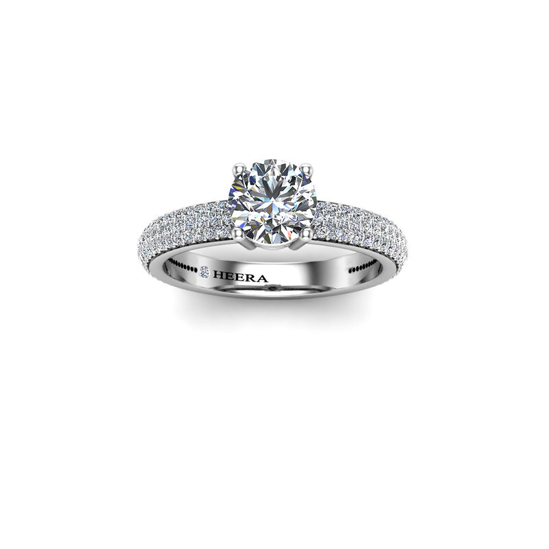 The Crown Solitaire Engagement Ring in Platinum - HEERA DIAMONDS