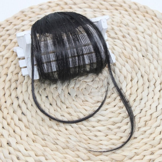 Hair Clips Fringe Hair Pieces Synthetic Hair On The Clips Front Neat Bang Good Hair Styling Accessories - 1pcs High Quality