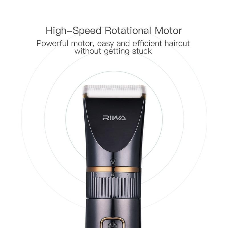 Professional Waterproof Hair Trimmer LED Display Men's Haircut Cutting Machine Grooming Low Noise Clipper Titanium Ceramic Blade - Nova Sloth