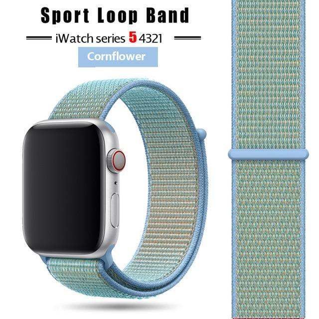 Strap For Apple Watch band 44 mm/40mm applewatch  42mm 38mm bracelet correa pulseira nylon loop watchband iwatch 5 4 3 series - Nova Sloth