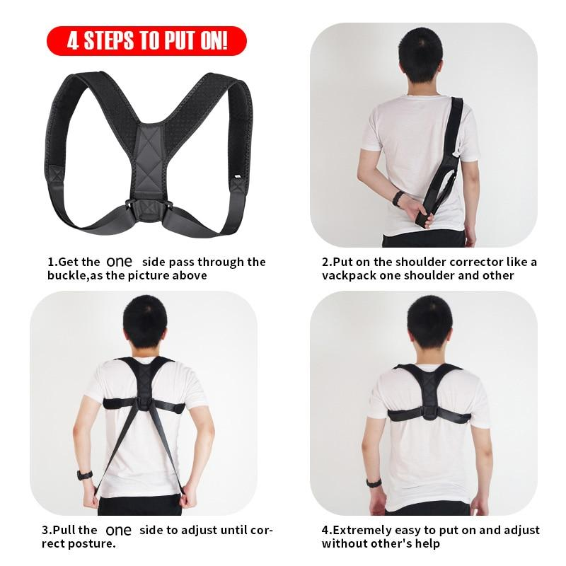 Medical Clavicle Posture Corrector Adult Children Back Support Belt Corset Orthopedic Brace Shoulder Correct - Nova Sloth