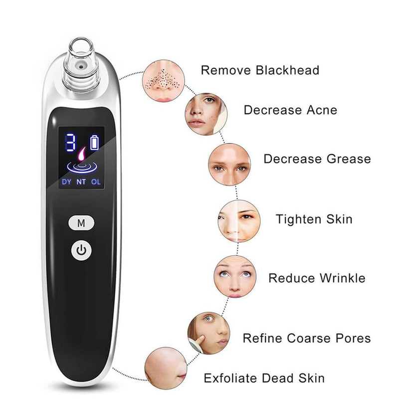 Cold / hot mode Blackhead Remover | Painless Pore Vacuum Extraction Tool - Nova Sloth