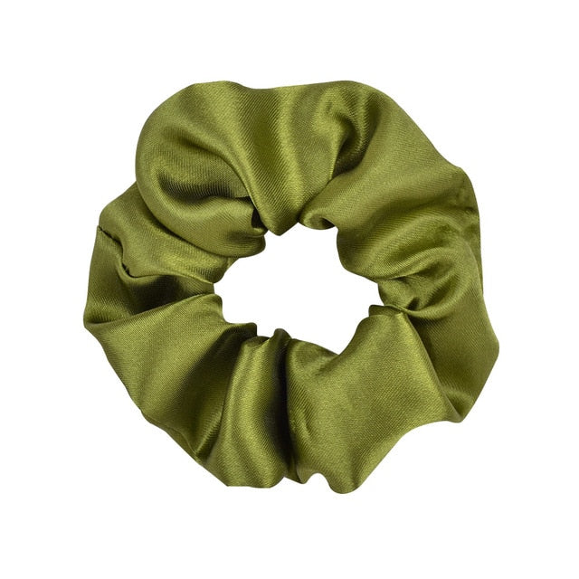 3.9 inch Women Silk Scrunchie Elastic Handmade Multicolor  Hair Band Ponytail Holder Headband Hair Accessories - Nova Sloth
