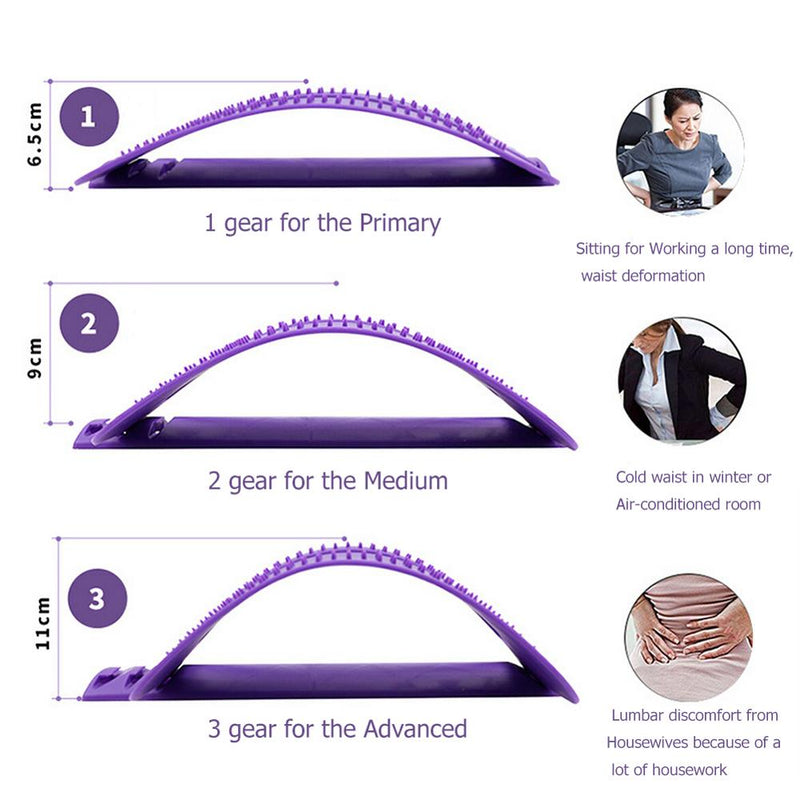 1pc Back Stretch Equipment Massager Massageador Magic Stretcher Fitness Lumbar Support Relaxation Spine Pain Relief Dropshipping