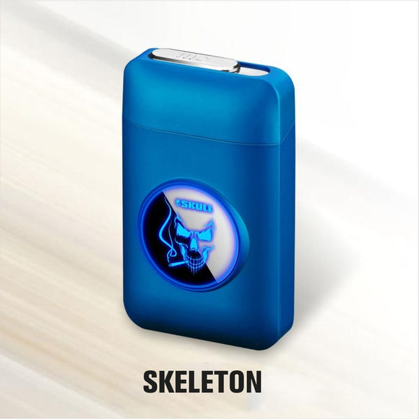 Metal Cigarette Case Box with USB Electronic Lighter - Nova Sloth