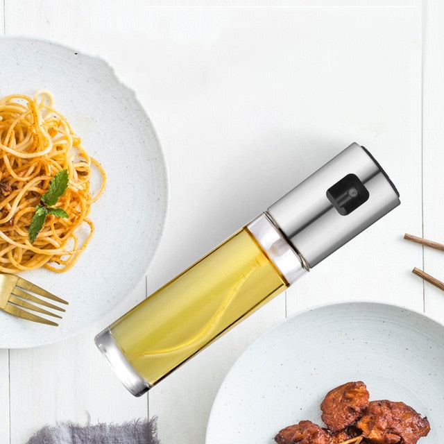 Kitchen Stainless Steel Olive Oil Sprayer Bottle Pump Oil Pot Leak-proof Grill BBQ Sprayer Oil Dispenser BBQ Cookware Tools - Nova Sloth