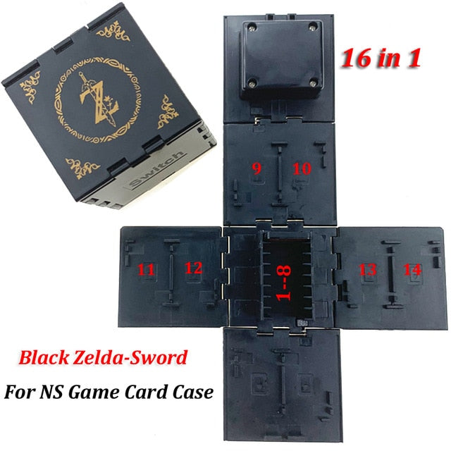 Game Cards Case - Nintendo Switch Shockproof NS Hard Shell Box for Nintendo Switch Games Storage Accessories 16 in 1