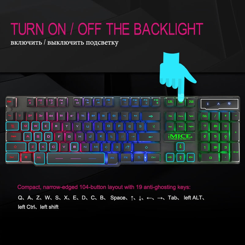 Mechanical Gaming Keyboard  RGB Backlit - Nova Sloth