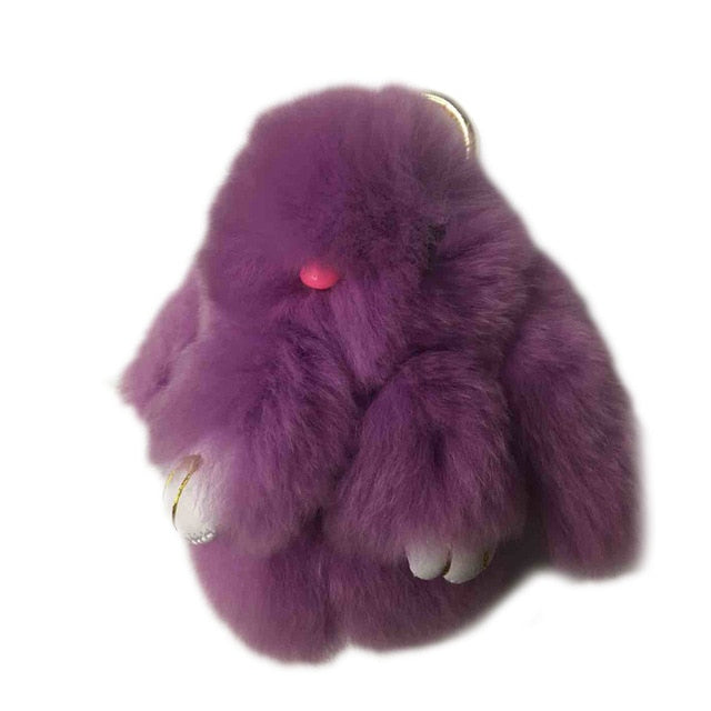 Rabbit Fur Plush Easter Bunny Toy For Easter Decoration - Nova Sloth